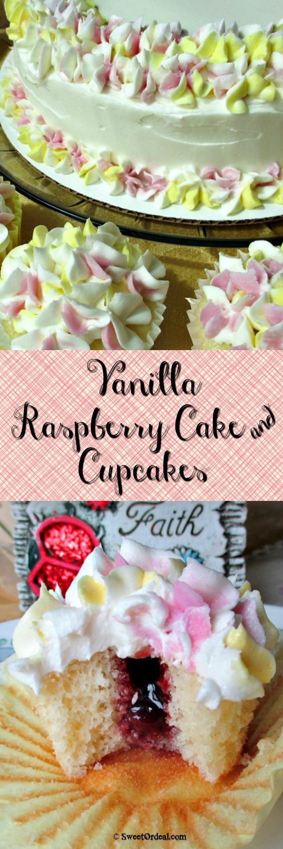 Vanilla Raspberry Cake & Cupcakes
