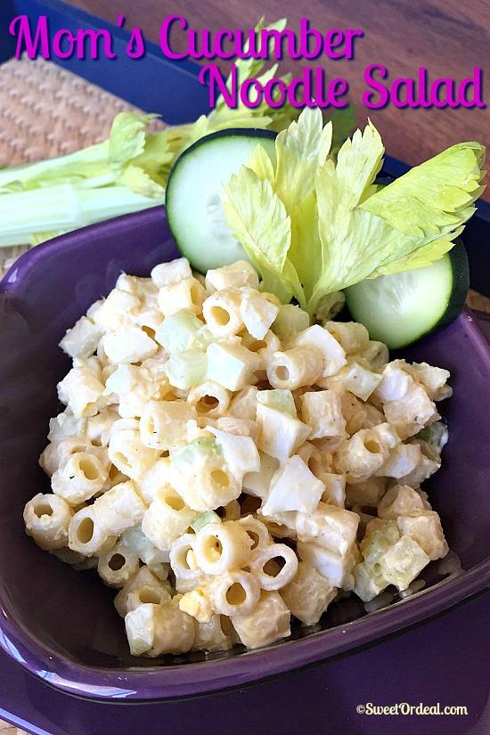 Mom's Cucumber Noodle Salad