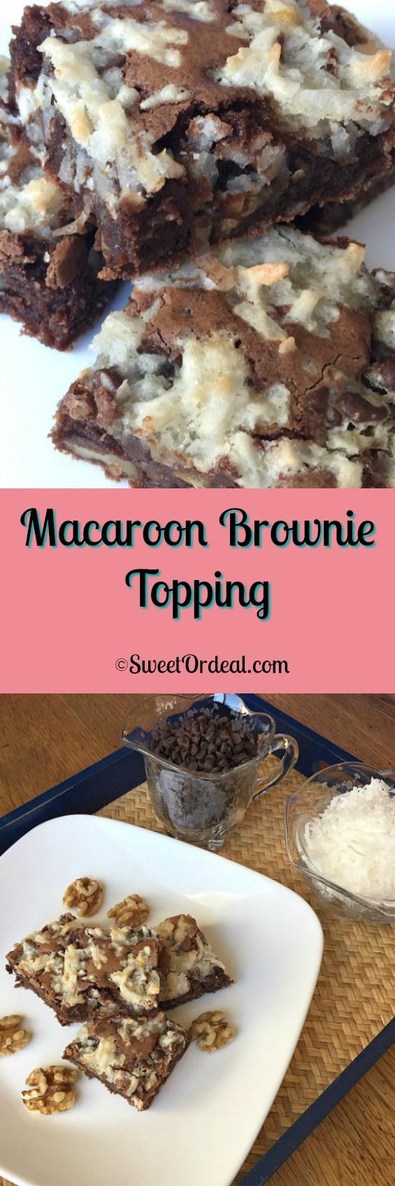 Macaroon Brownie Topping