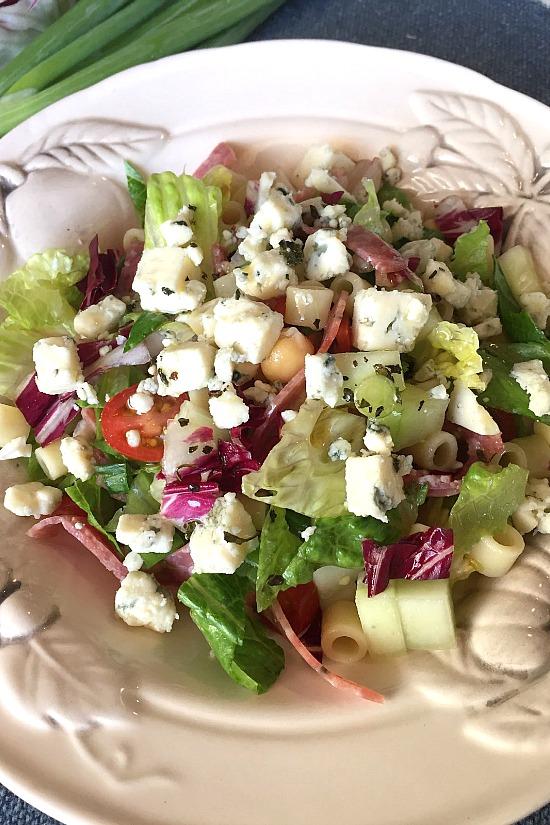 Italian Pasta and Lettuce Salad
