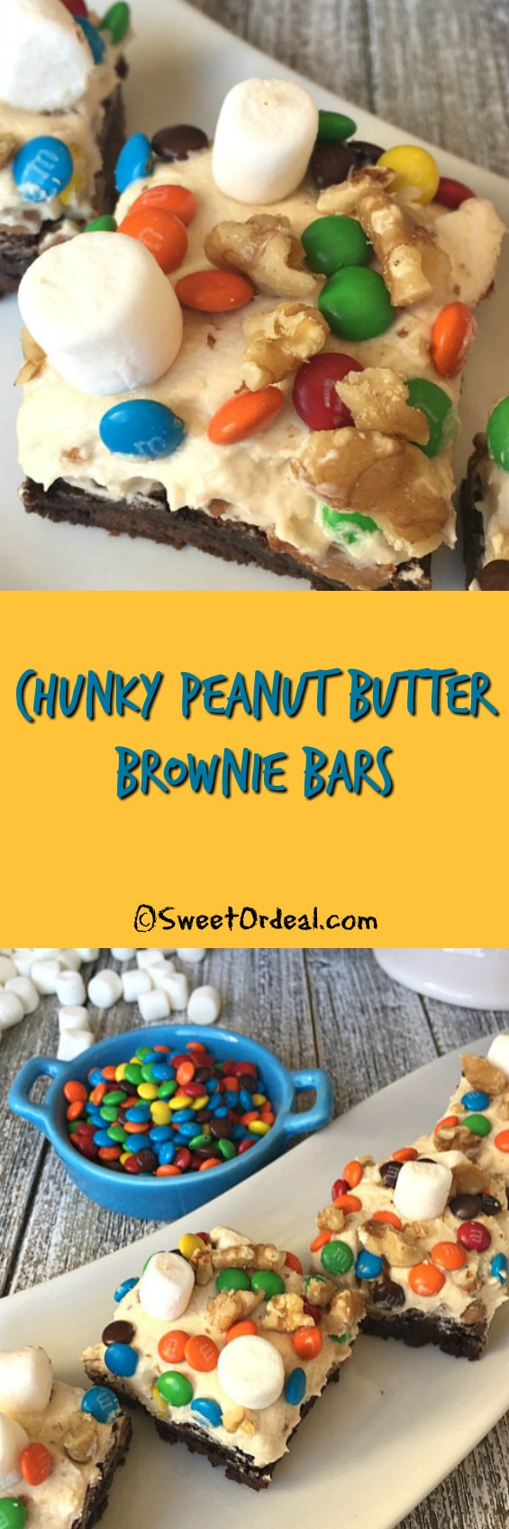 Chunky Peanut Butter Brownie Bars