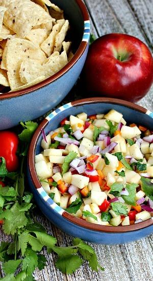Apple Salsa with Cilantro
