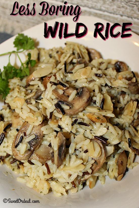 Less Boring Wild Rice
