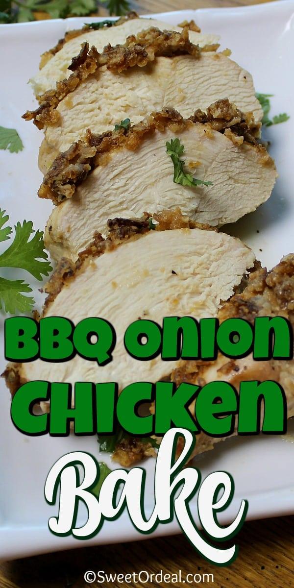 BBQ Onion Chicken Bake