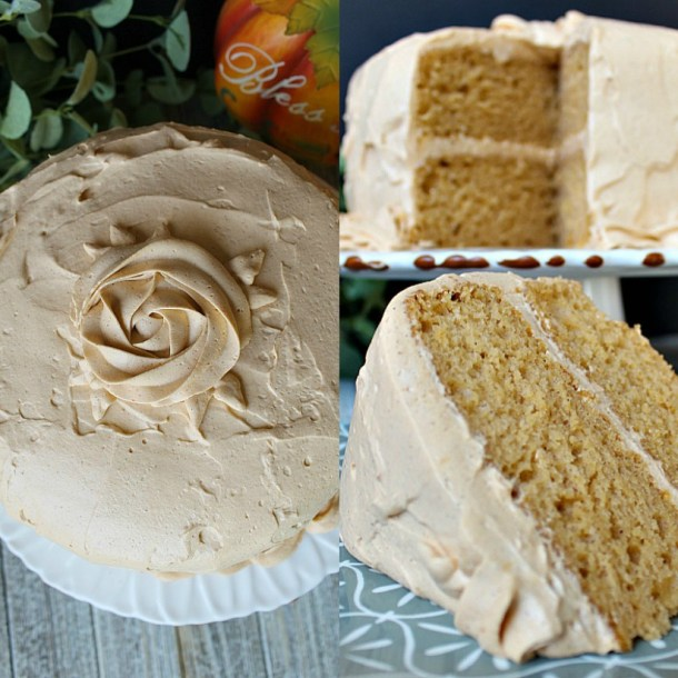 Pumpkin Pudding Cake with Pumpkin Pudding Frosting