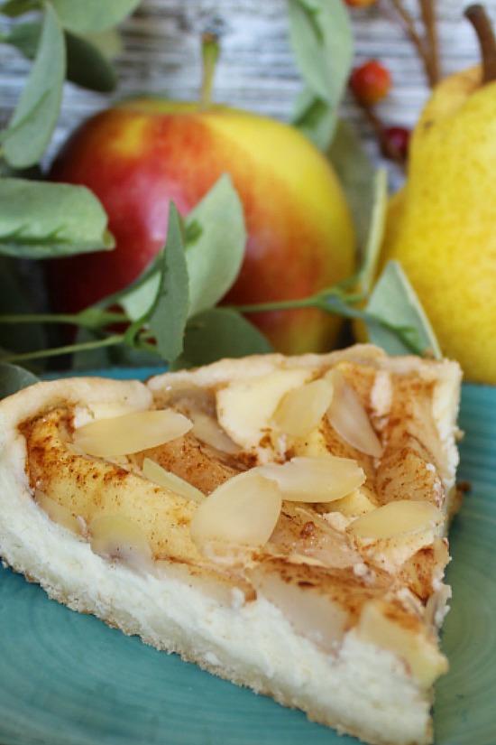 Apple Pear Cream Cheese Tart