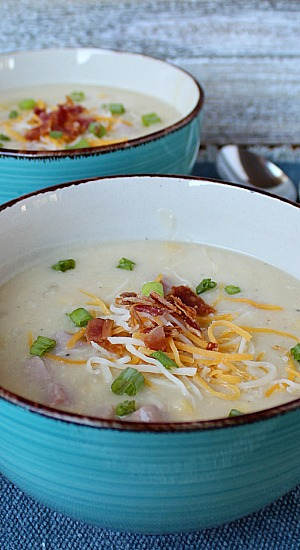 Cheesy Potato Ham Chowder