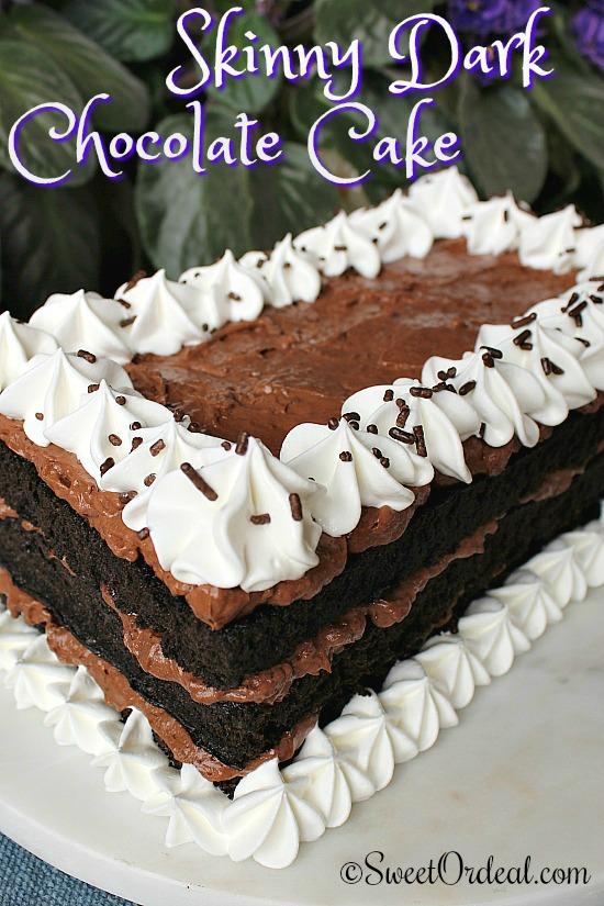 Skinny Dark Chocolate Cake