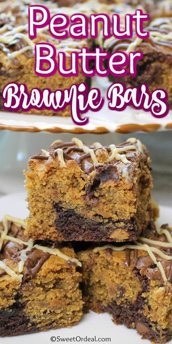 Dessert bars on display.