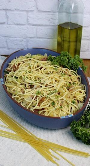 Bacon Herbed Spaghetti