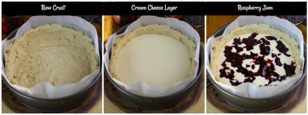 Process of baking a coffee cake.