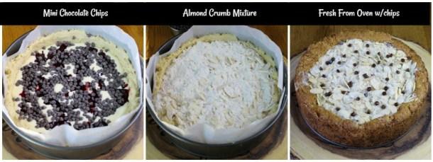 Process of making a coffee cake.