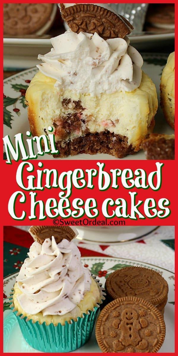 Mini Gingerbread Cheesecakes