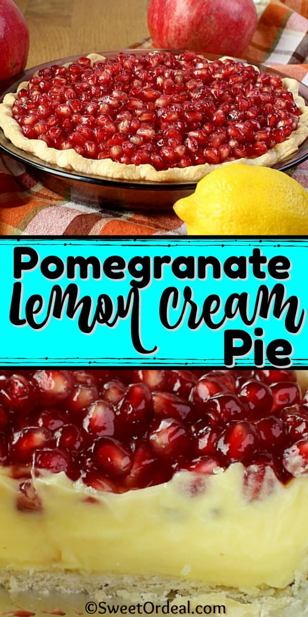 A Pomegranate Lemon Cream Pie.