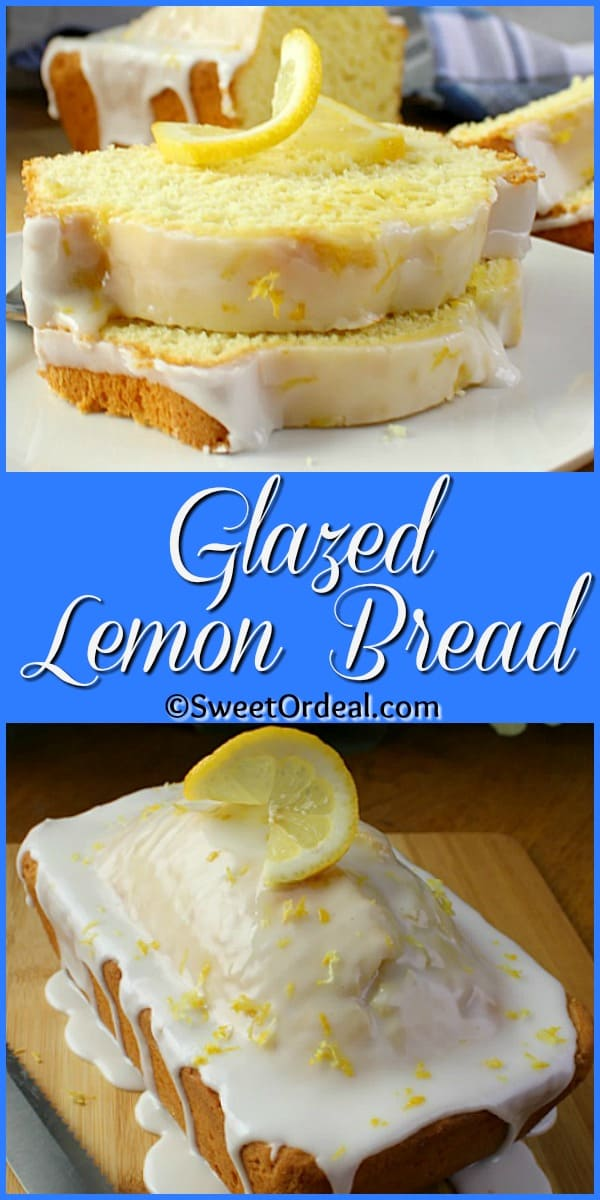 """Delicious lemony goodness in a 9 x 5"""" loaf pan."""