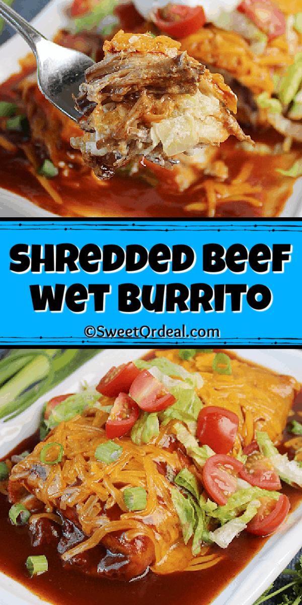 Shredded Beef Wet Burritos