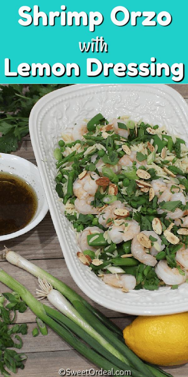 Shrimp Orzo with Lemon Dressing