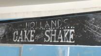 Cake and Shake blackboard