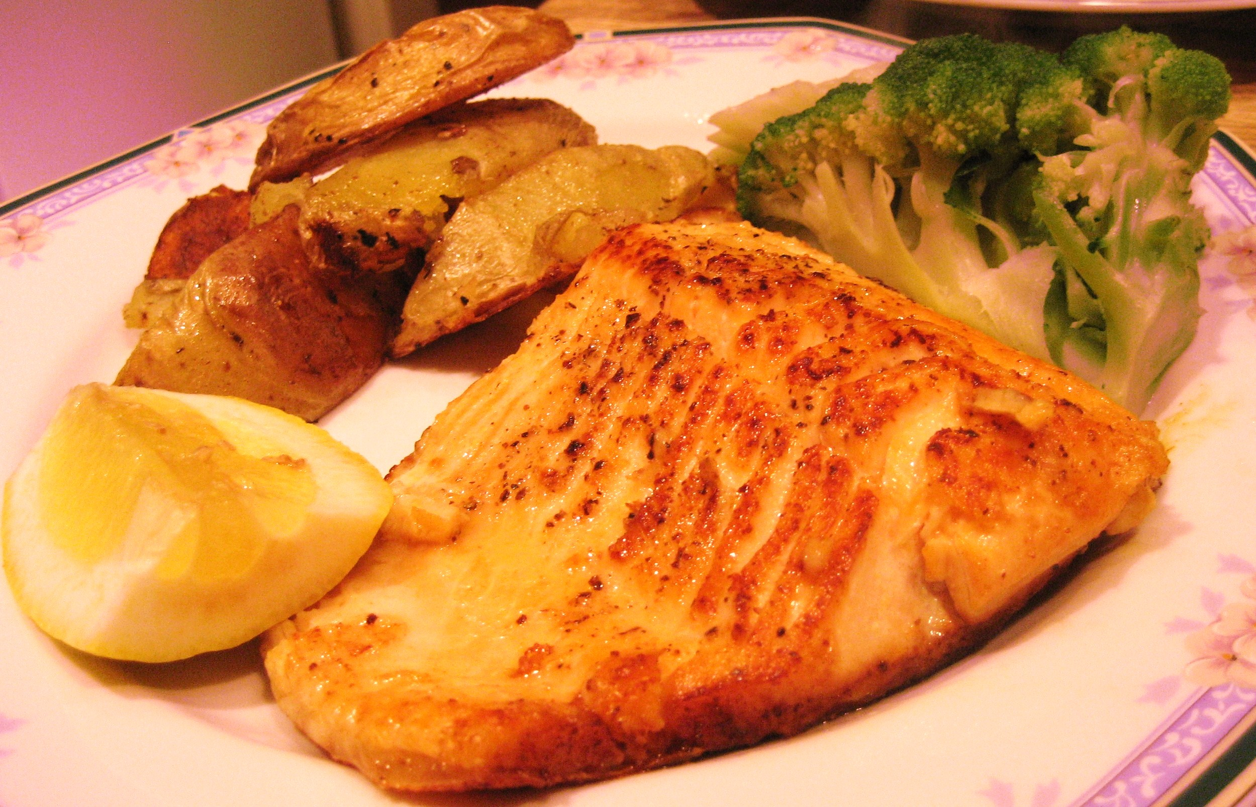 Arctic Char, Roasted Potatoes and Steamed Broccoli