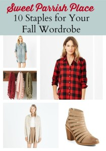 10 Staples For Your Fall Wardrobe
