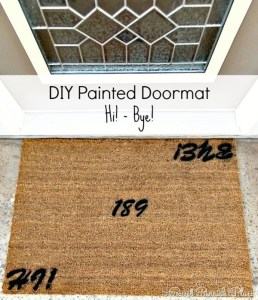 Trashtastic Tuesday- DIY Painted Doormat