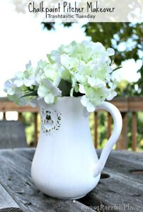 Trashtastic Tuesday- Chalk Paint Pitcher Makeover
