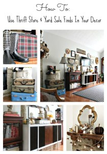 Trashtastic Tuesday- How To Use Thrift Store & Yard Sale Finds in your Decor