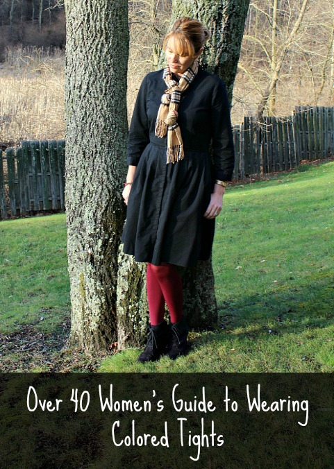 Over 40 Women's guide to wearing colored tights