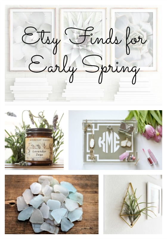 Etsy finds for early spring