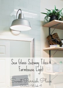 One Room Challenge Week 4 | Subway Tile Backsplash and Farmhouse Light