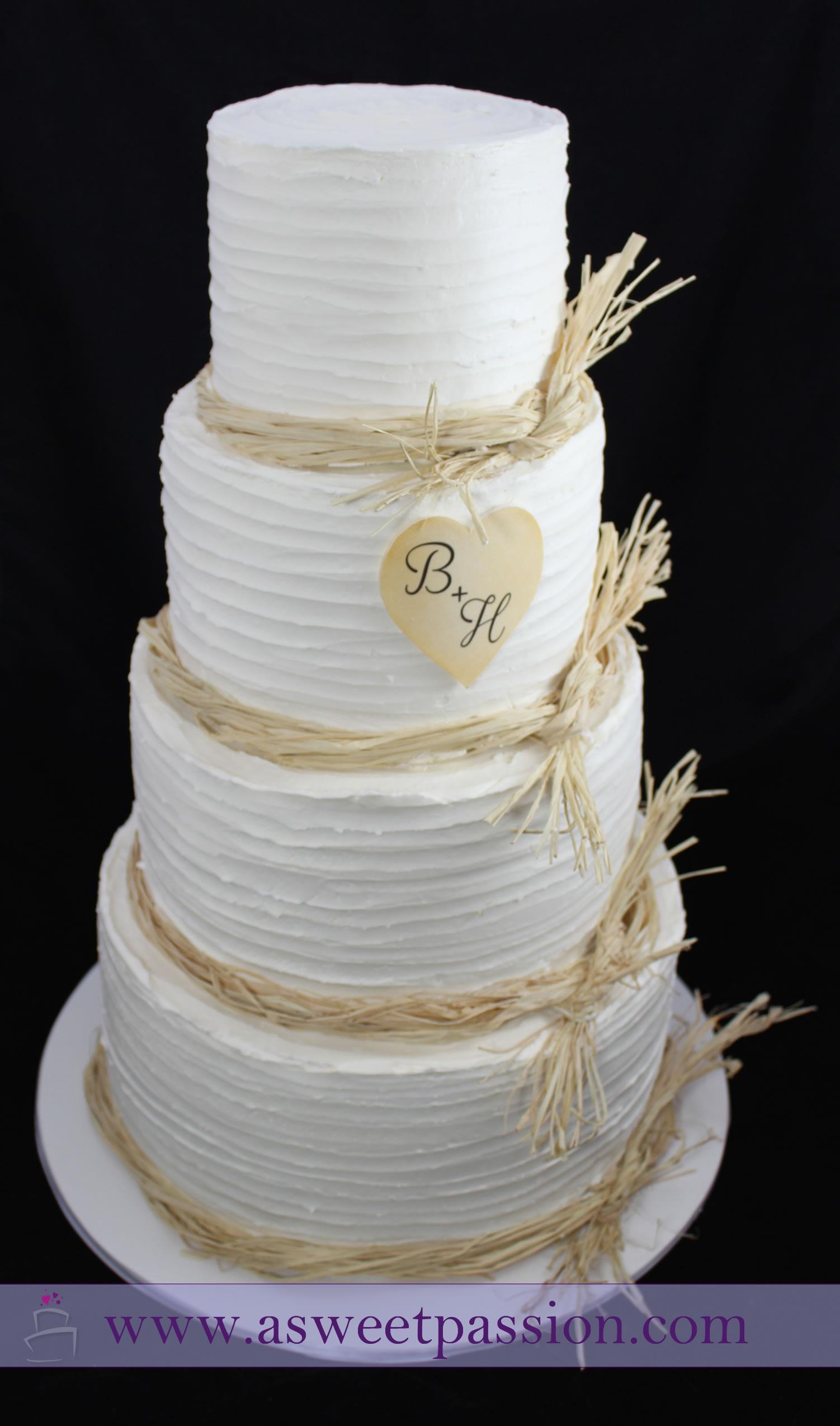 Rustic Buttercream Wedding Cake Sweet Passion Cakery