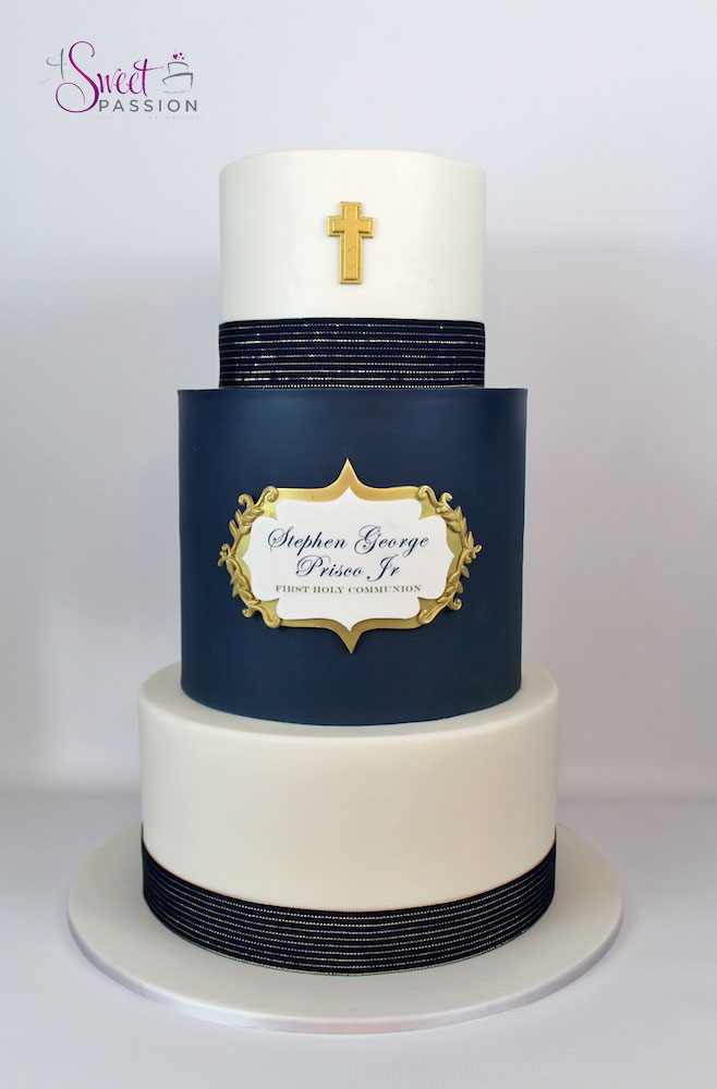 Masculine Communion Cake Sweet Passion Cakery