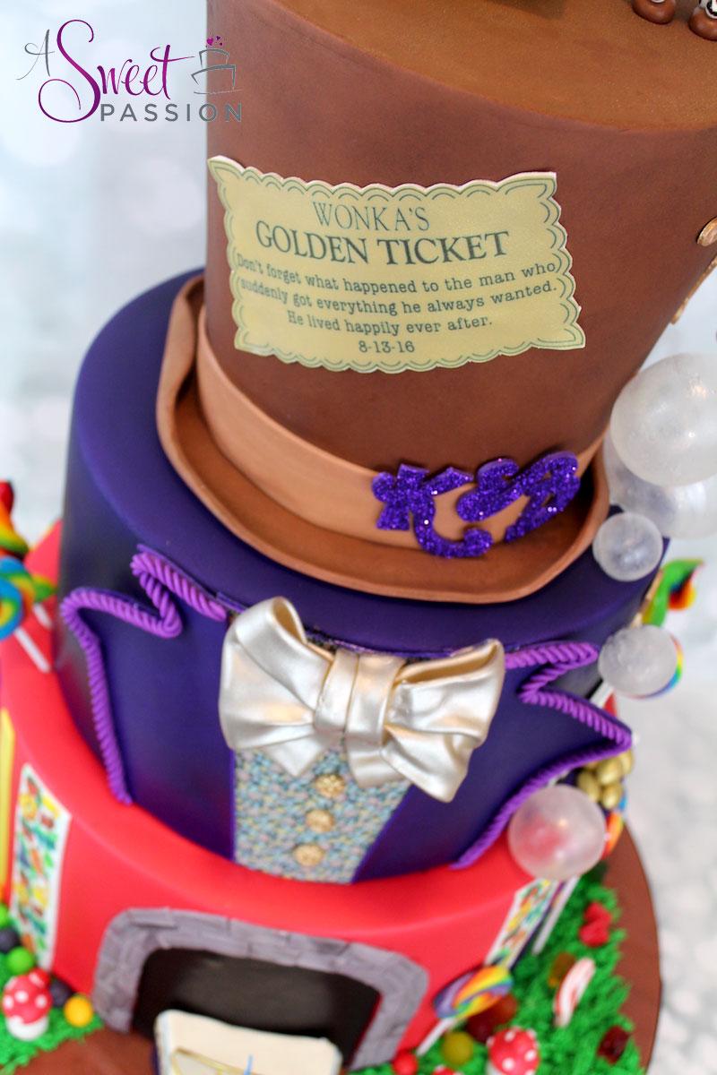 Willy Wonka Wedding Cake Sweet Passion Cakery