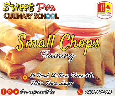 Learn how to make your favorite tasty chops in 1 week. • Explanatory training manual • Practical, do-it-yourself classes • 15 sumptuous chops to be learnt • Class project • Certification • Free-after training consultation