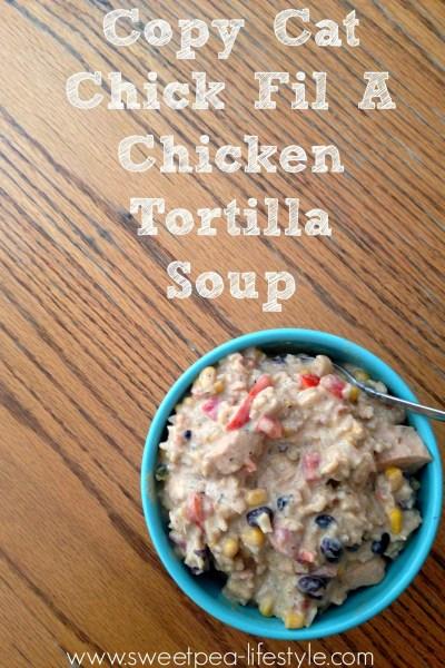 Copy Cat Chick Fil A Chicken Tortilla Soup