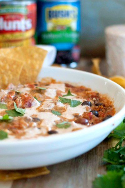 Enchilada Soup with Ranch Salsa