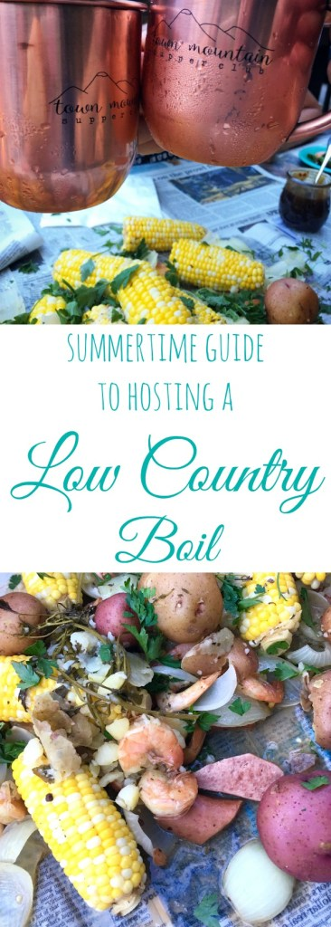 summertime guide to hosting a low country boil