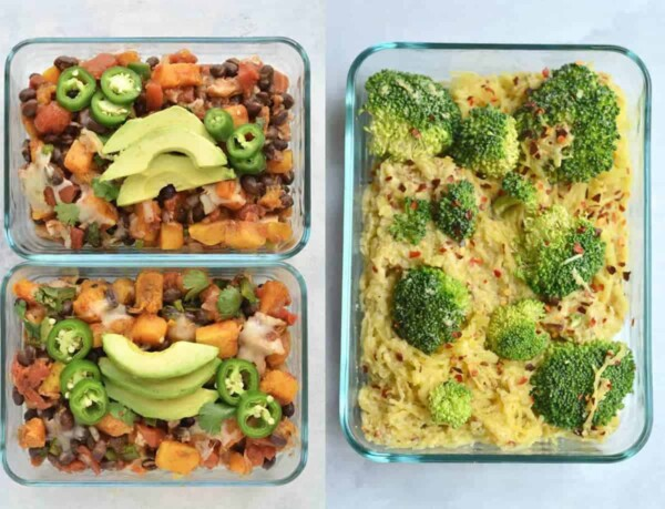 59 vegan meal prep recipes including vegan lunches for work that will have you covered for convenient plant-based breakfasts, lunches, dinners and snacks!