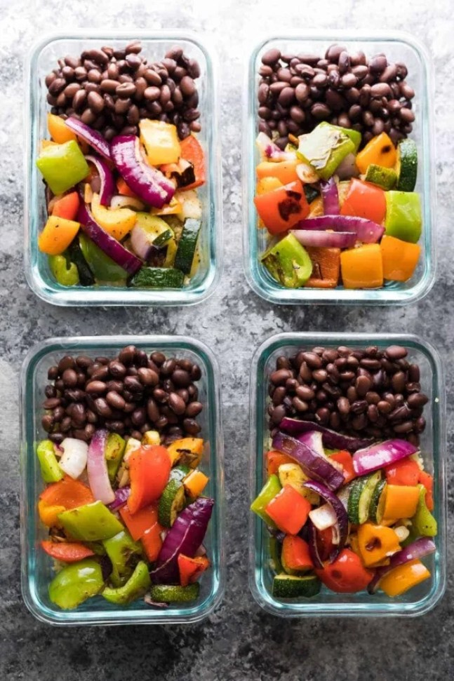 quick and easy dinner ideas, simple dinner ideas, grilled chicken veggie and black bean dish