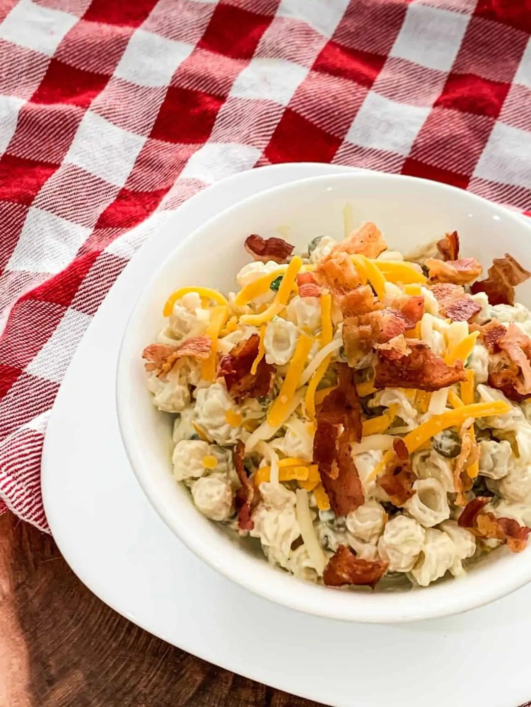Bacon Ranch Pasta Salad With Peas