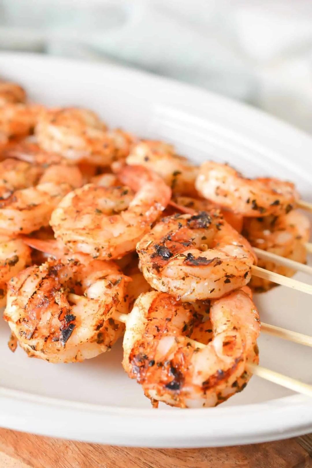 Grilled Garlic Herb Shrimp
