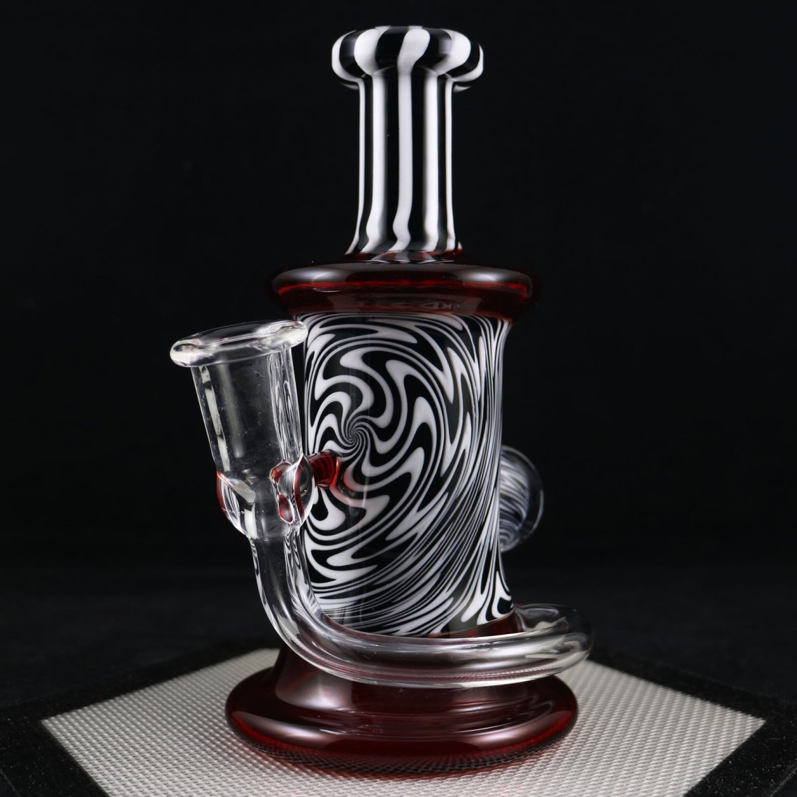 Philpot Glassworks – Red White and Black Custom Spinnerjet