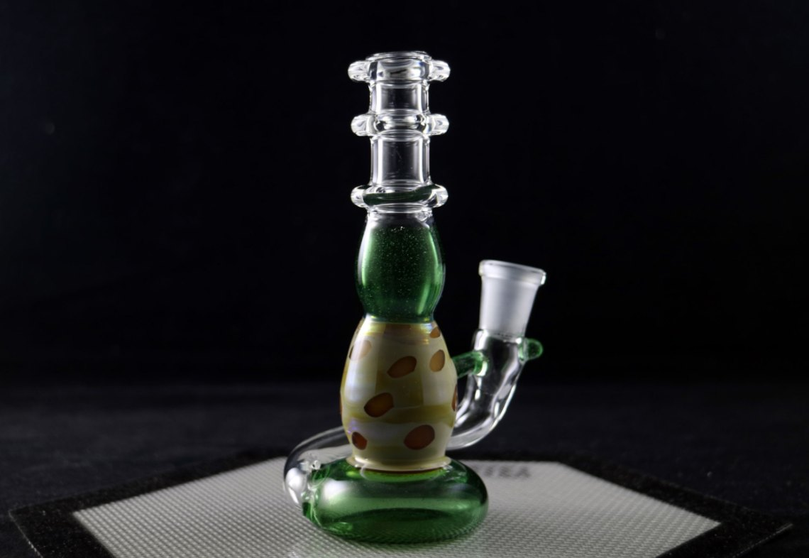 Little Pot Glass – Green Stardust Mini Spinnerjet