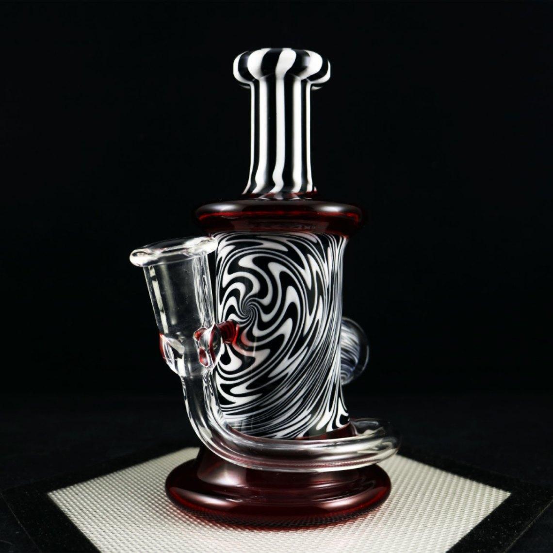 Philpot Glassworks – Red White and Black Custom Spinnerjet