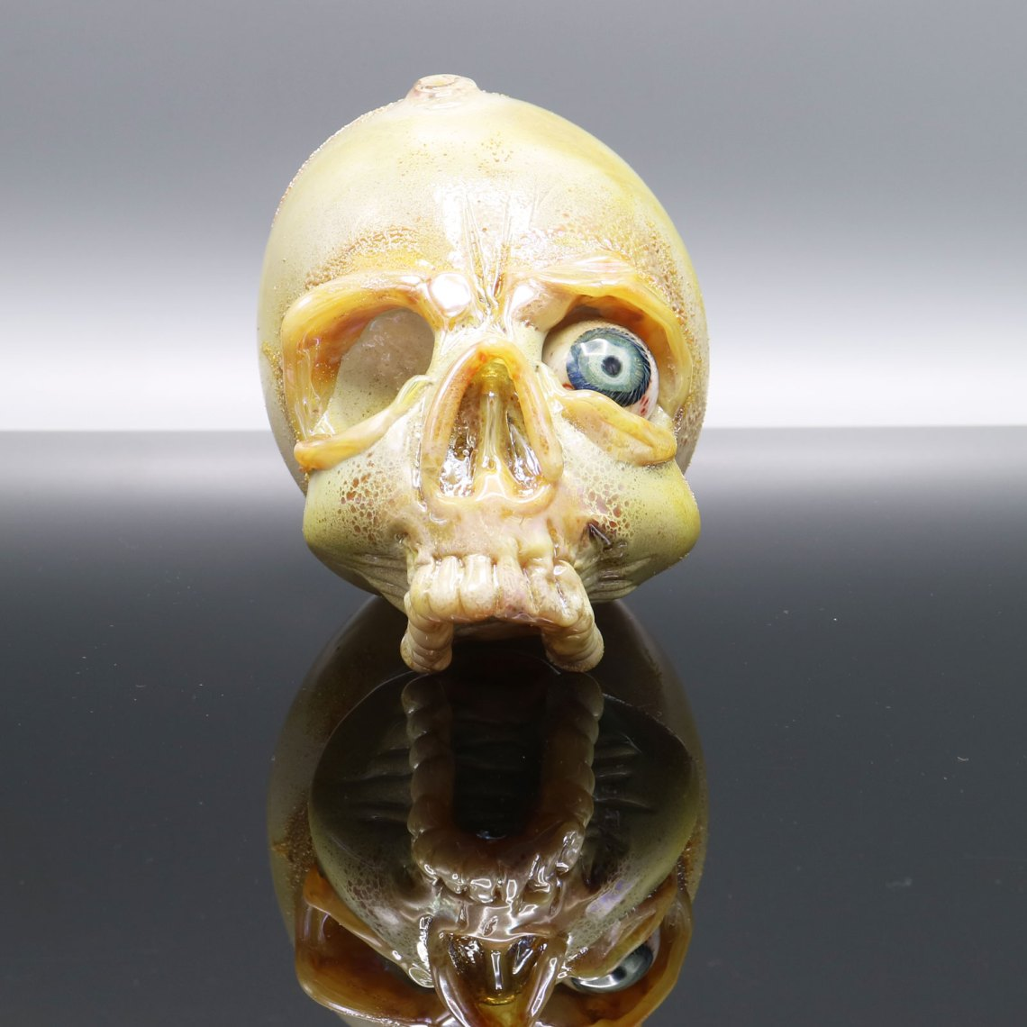 Jonny Carrcass – Functional One Eye Skull Sculpture