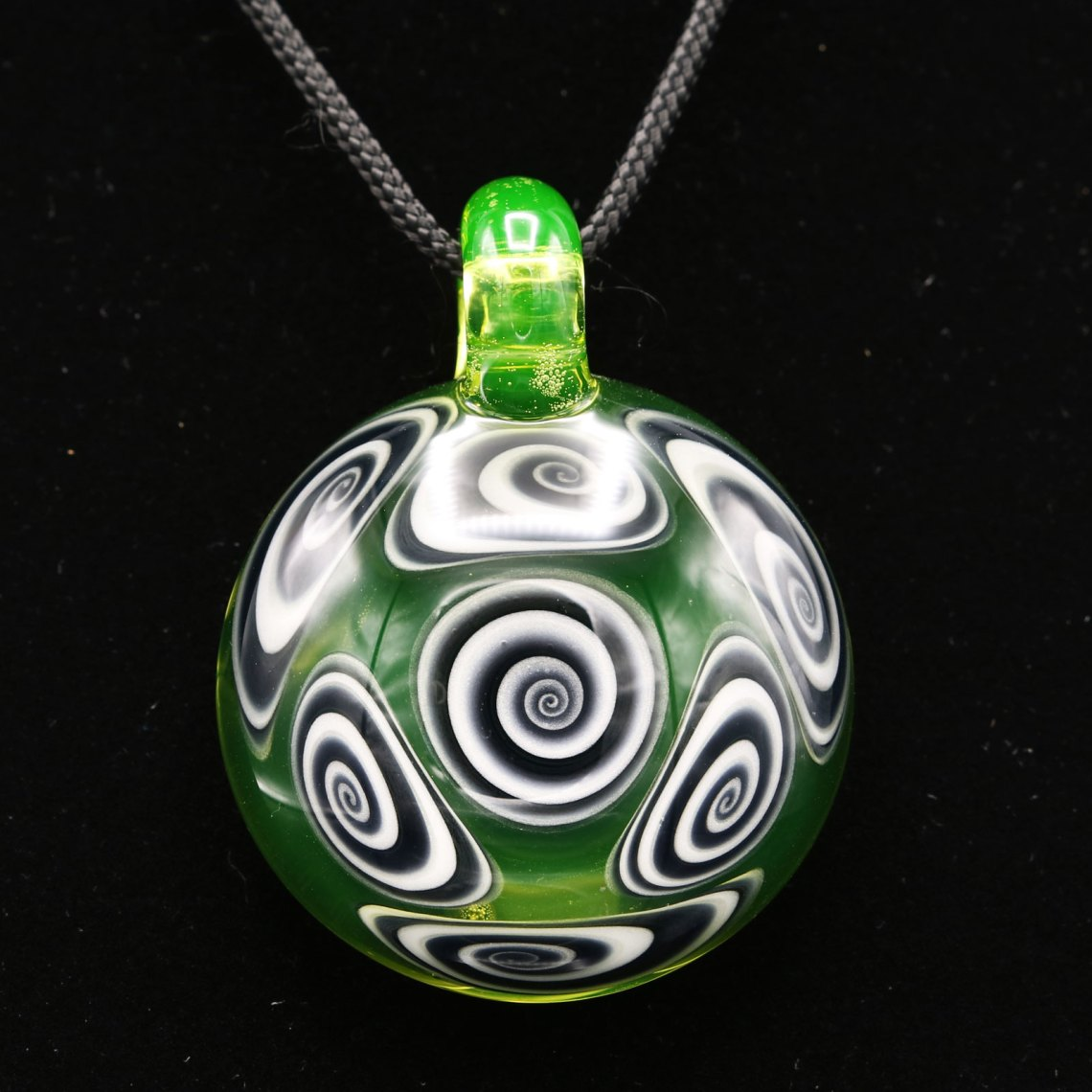 Kaja Glass – 7 Section Illuminati Microspiral Pendant