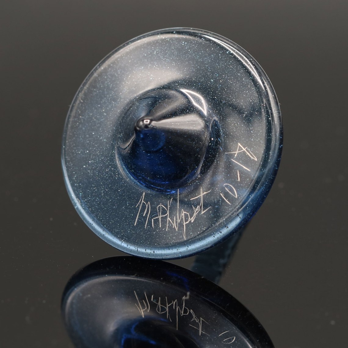 Mike Philpot – Blue Spinning Glass Top