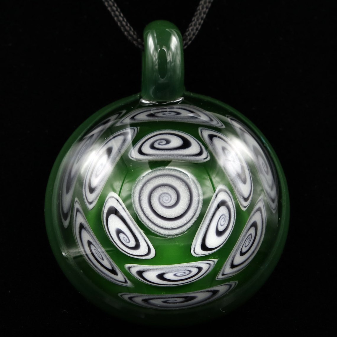 Kaja Glass – 13 Section Tree Hugger and Illuminati Microspiral Pendant