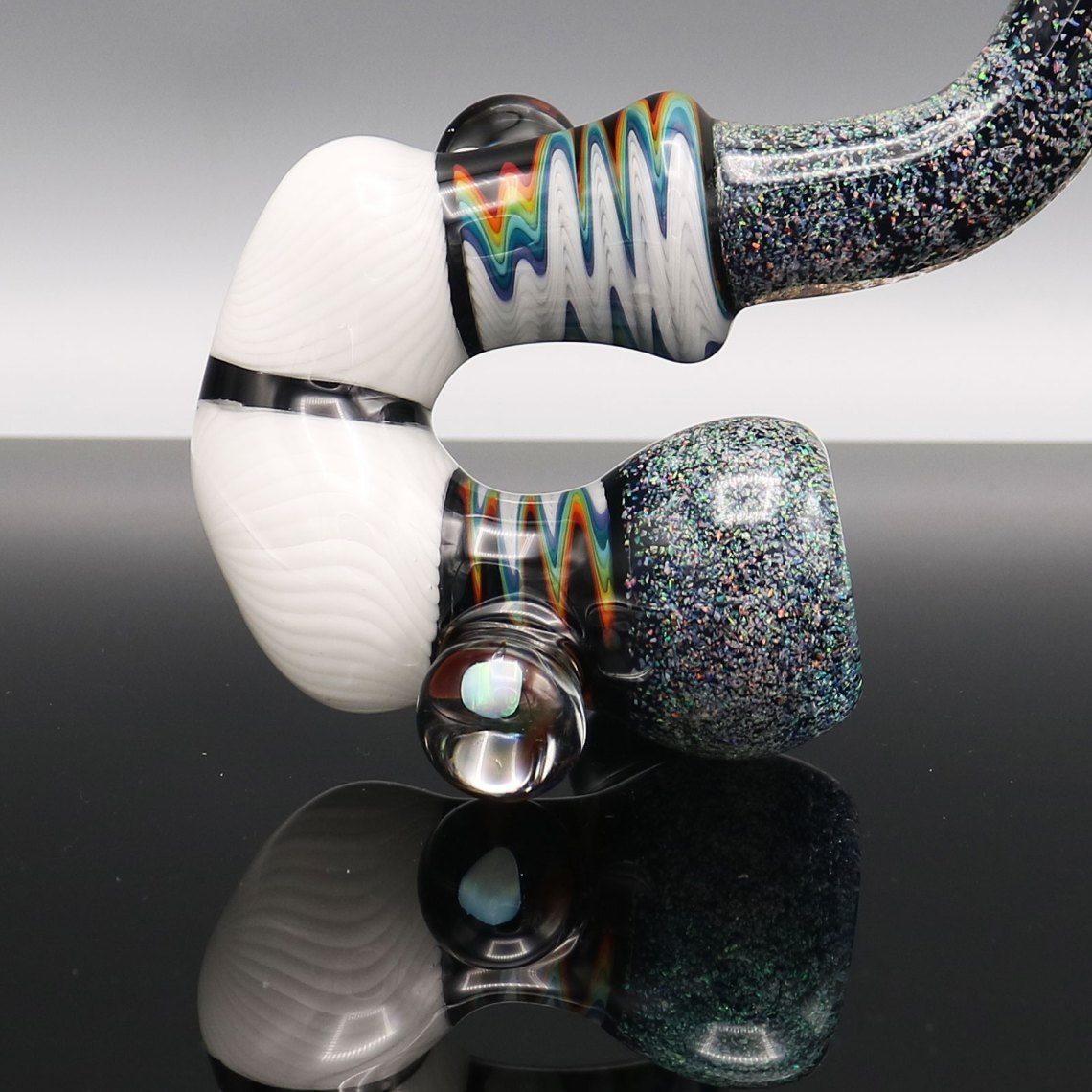 Chappell Glass – White Crushed Opal Sherlock