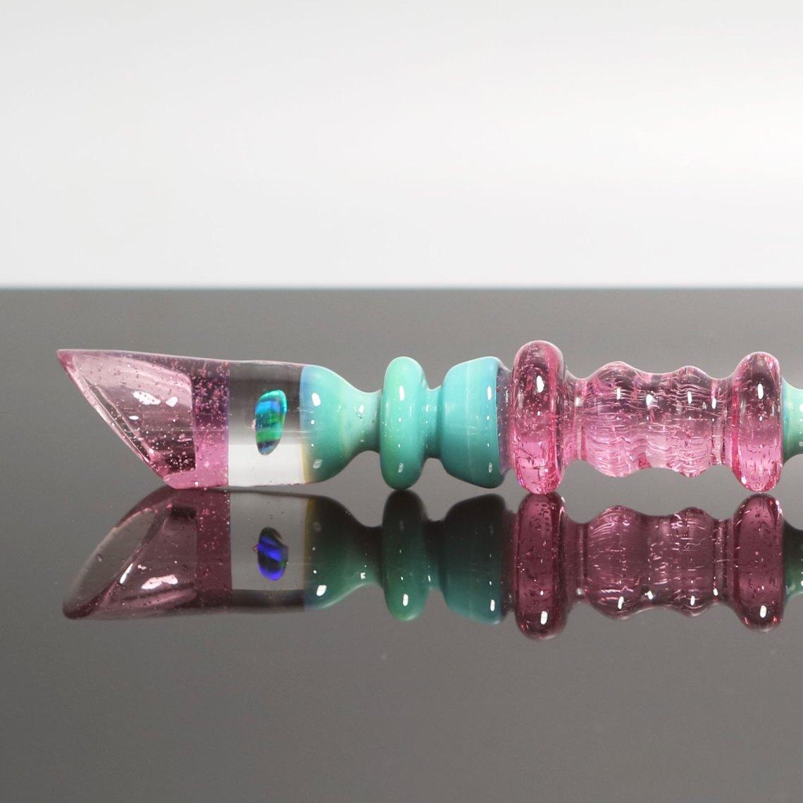 Czar Glass – Silver Aqua Rozay Ultra Scoop